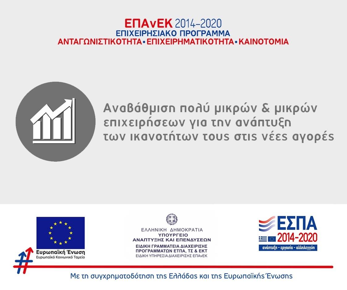 Προγραμματα 2014-2020 / Αναβάθμιση πολύ μικρών και μικρών επιχειρήσεων